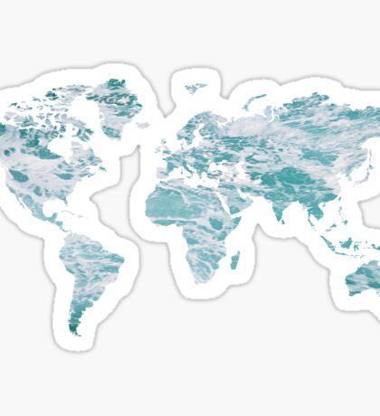 World Map - Water Sticker
