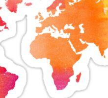 World Map - Warm Sticker