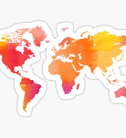 World Map - Warm Sticker