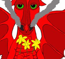 Welsh Dragon with daffodils Sticker