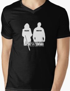 Castle ABC Always Writer & His Muse Mens V-Neck T-Shirt