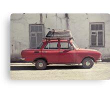 A car with a bathtube Metal Print