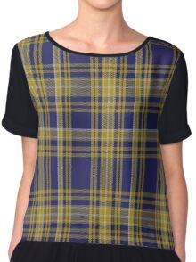 01343 University of North Carolina Greensboro Tartan Chiffon Top