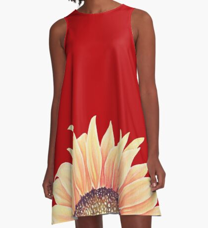 Sunflower Art A-Line Dress
