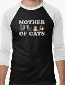 Cute Mother of Cats T Shirt Men's Baseball ¾ T-Shirt