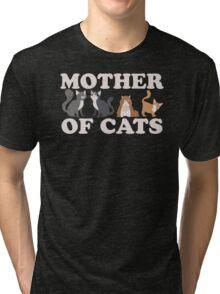 Cute Mother of Cats T Shirt Tri-blend T-Shirt