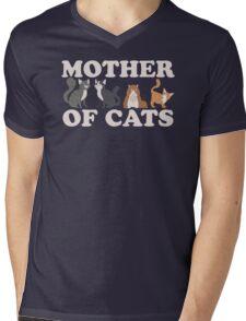 Cute Mother of Cats T Shirt Mens V-Neck T-Shirt