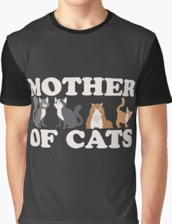 Cute Mother of Cats T Shirt Graphic T-Shirt