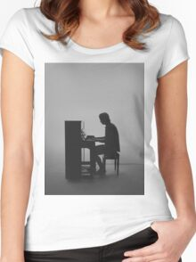 kygo piano Women's Fitted Scoop T-Shirt