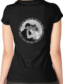 Caskett - May The Music Never Stop Women's Fitted Scoop T-Shirt