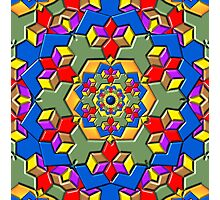 Kaleidoscope Color Pattern Photographic Print