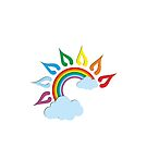 Rainbow Sun Clouds by T-ShirtsGifts
