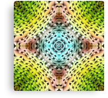 abstract shiny blue and green  Canvas Print