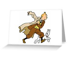 tintin / milou / snowy  Greeting Card