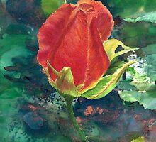 Red Rose by Linda Ginn Art