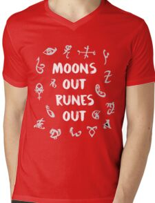 moons out runes out Mens V-Neck T-Shirt