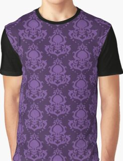 Skull Damask in Purples Graphic T-Shirt