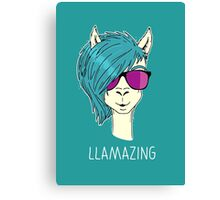 LLAMAZING Canvas Print