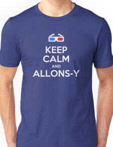 Keep calm and allons-y Unisex T-Shirt