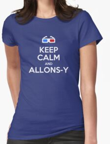 Keep calm and allons-y Womens Fitted T-Shirt