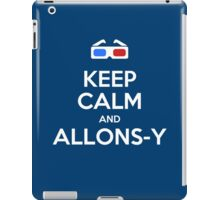 Keep calm and allons-y iPad Case/Skin