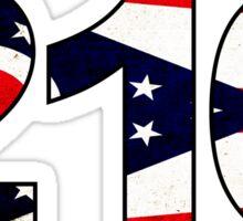 216 AREA CODE CLEVELAND OHIO FLAG BROOK PARK PARMA LAKEWOOD Sticker