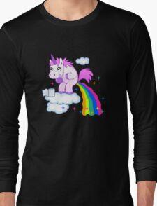 Unicorn Pup Rainbow In The Cloud Fun Pegasus Long Sleeve T-Shirt