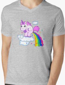 Unicorn Pup Rainbow In The Cloud Fun Pegasus Mens V-Neck T-Shirt