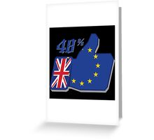 Brexit remain Greeting Card