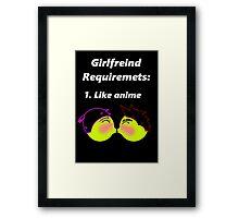 Anime love Framed Print