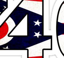 740 AREA CODE ATHENS OHIO FLAG ZANESVILLE Sticker