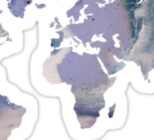 World Map - Purple Marble Sticker
