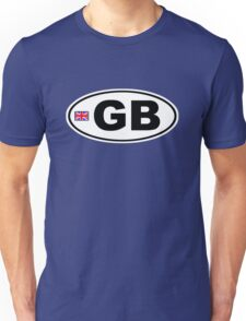 GB - GREAT BRITAIN - BUMPER STICKER Unisex T-Shirt