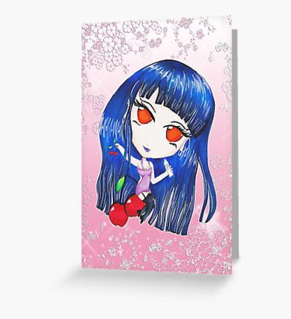 Cherry Chibi Greeting Card