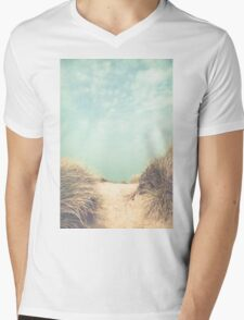 The way to the beach Mens V-Neck T-Shirt
