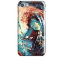 Time travel Phone box at Starry Dark Vortex iPhone Case/Skin
