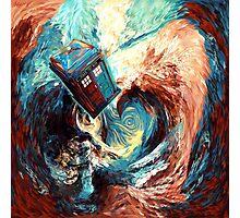 Time travel Phone box at Starry Dark Vortex Photographic Print