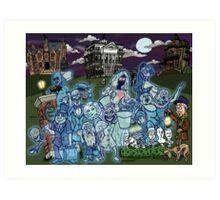 Grim Grinning Ghosts Art Print