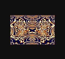 A Gold on Blue abstract (1a) made in Gimp Womens Fitted T-Shirt