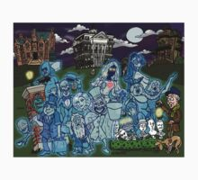 Grim Grinning Ghosts Kids Tee
