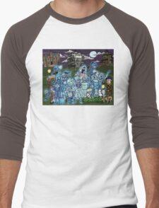 Grim Grinning Ghosts Men's Baseball ¾ T-Shirt