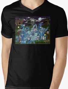 Grim Grinning Ghosts Mens V-Neck T-Shirt
