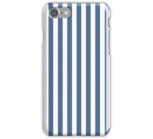 Fall 2016 Color Trends - Riverside Blue & White Stripes iPhone Case/Skin