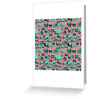 Skull Overload Pattern Greeting Card