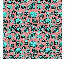 Skull Overload Pattern Photographic Print