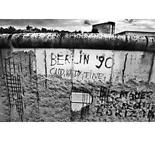 Berlin Wall Black&White Photographic Print