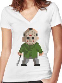 Pixel Jason Women's Fitted V-Neck T-Shirt
