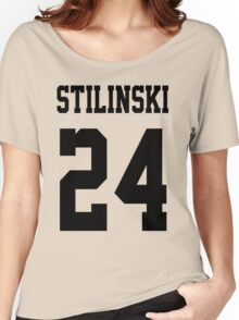 Stilinski Jersey Black Letters Women's Relaxed Fit T-Shirt
