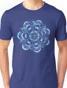 Royal Blue, Teal, Mint & Purple Mandala Flower Unisex T-Shirt