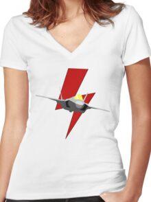 Lockheed F-35 Lightning II Women's Fitted V-Neck T-Shirt